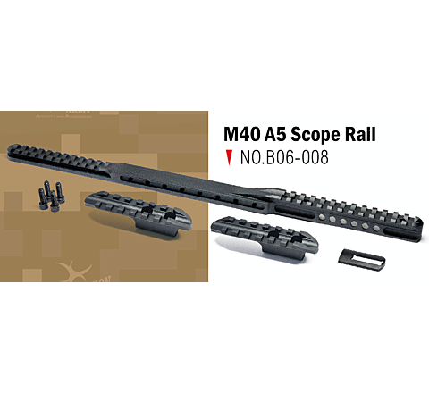 Action Army TM M40 A5 Extended Scope Rail - Black