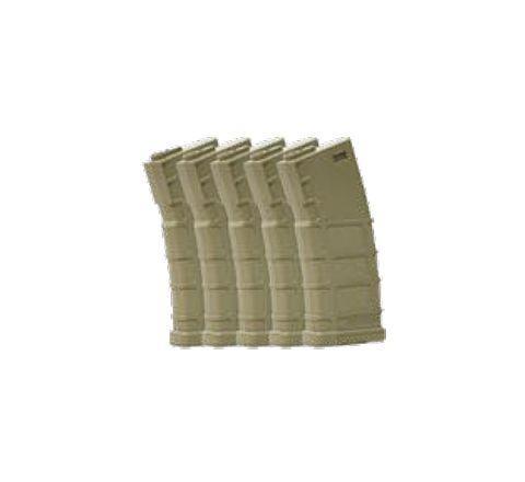 Bolt BMAG 140rd M4 Mid-Cap (Tan) Magazines - 5/Pack