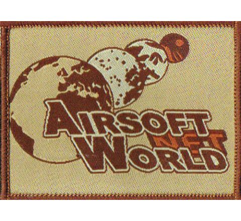 Airsoft World™ Morale Patch - Desert w/Velcro on cloth