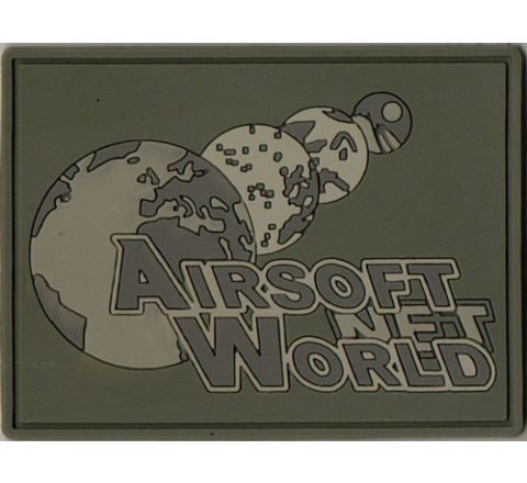 Airsoft World™ Morale Patch - ACU w/Velcro on PVC rubber