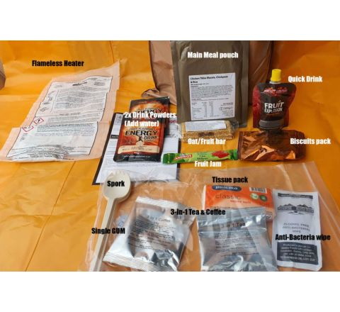 British Army Single Meal 4-12 hour Ration Pack Battle Rations (2021)