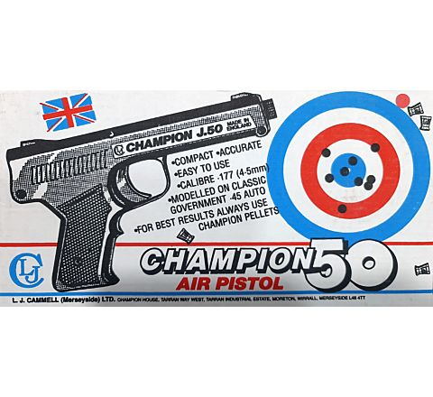 Champion 50 / J.50 .177 / 4.5mm BB Spring Air Pistol