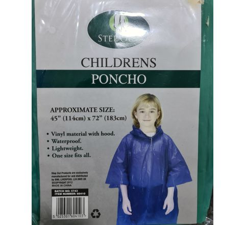 Step Out Childrens Poncho