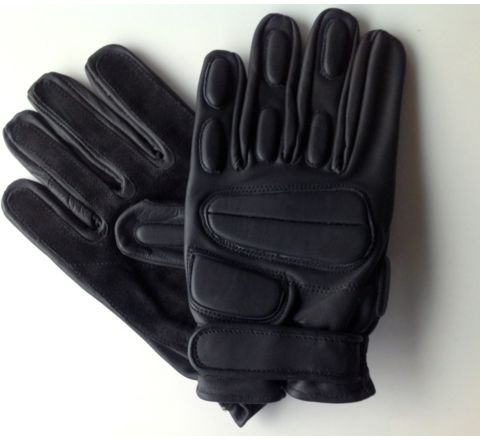 CoverT Leather Rappel Gloves - Knuckle Protection Large