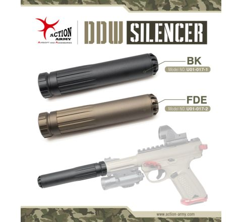 Action Army AAP-01 DDW Suppressor 14mm CCW - Black