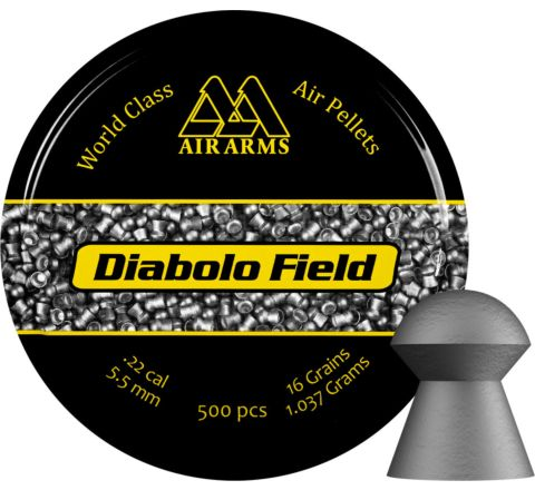 AirArms Diabolo Field .22 / 5.5mm Domed Air Pellets