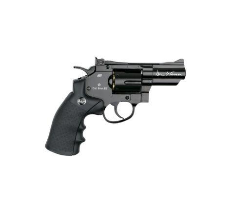 """ASG Dan Wesson CO2 Airsoft Revolver - 2.5"""" Barrel - Black"""