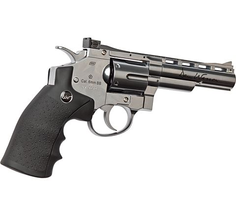 "ASG Dan Wesson CO2 Airsoft Revolver - 4"" Barrel - Chrome 'Stainless'"