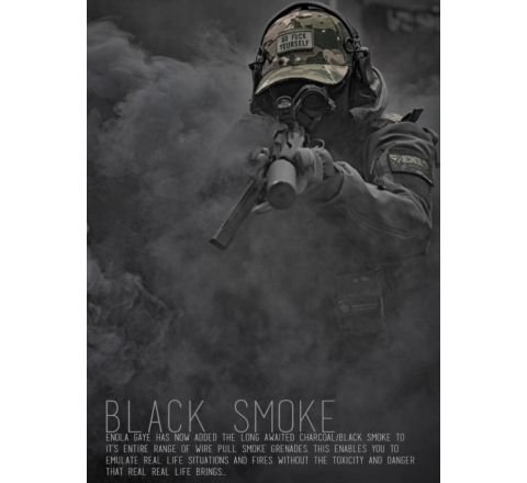 Enola Gaye WP40 Ring-Pull Coloured Smoke Grenade - Black