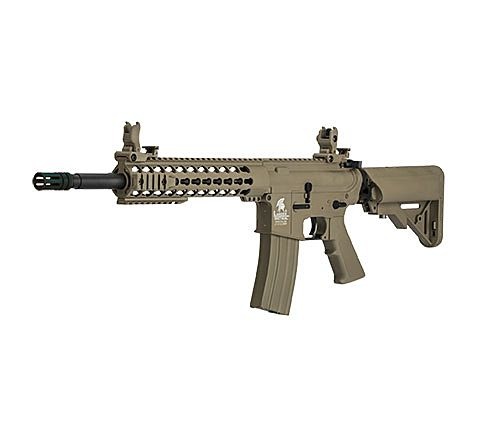 "Lancer Tactical Gen 2 M4 10"" Carbine Airsoft Rifle - TAN"