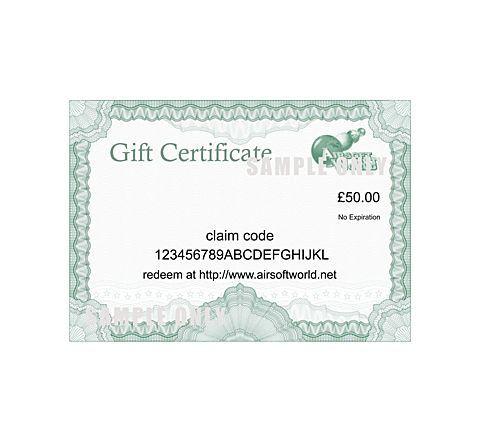 Online Gift Voucher / Certificate