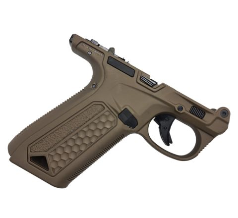 Action Army complete lower receiver for AAP-01 GBB pistol - FDE
