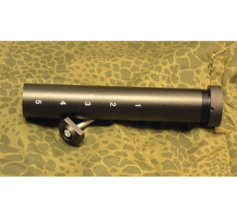 Battery stock tube for M4 rifles