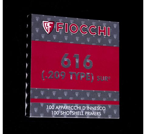 .209 Fiocchi 616 SUR Shotgun Primers (Pack of 100)