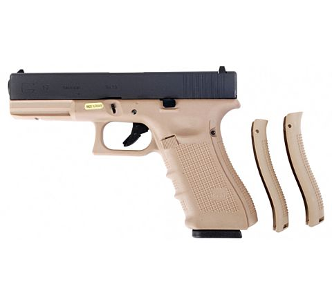 WE Airsoft Glk 17 Gen 4 Tactical GBB Airsoft Pistol Tan Frame