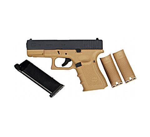 WE Airsoft Glk 19 Gen 4 Tactical GBB Airsoft Pistol Tan Frame