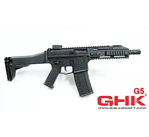 GHK G5 GBB Airsoft Rifle - Black