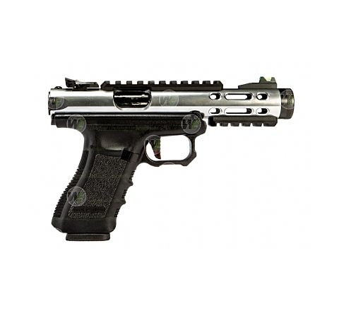 WE Airsoft Galaxy Semi/Full Auto Airsoft Pistol - Silver