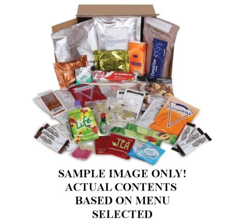 12hr Ambient Food Ration Pack / Rat Pack Box - 2011 Menu