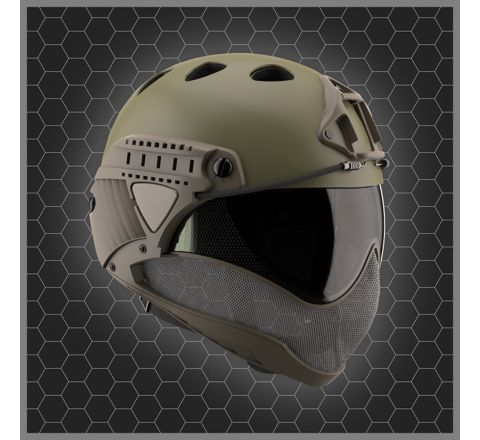 Warq Plain Colour Helmet - Kit