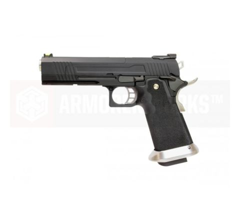 Armorer Works Custom Hi-Capa HX1002 Airsoft Pistol - Split Slide in Black with Black Frame