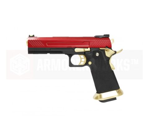Armorer Works Custom Hi Capa HX1104 GBB Airsoft Pistol - Red Slide
