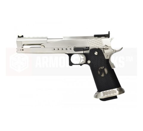 Armorer Works Custom Hi-Capa Dragon HX2201 'Race Pistol' Airsoft Pistol - Silver Slide