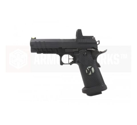 Armorer Works Custom Hi-Capa HX2602 Airsoft Pistol - Black Slide with Black Frame