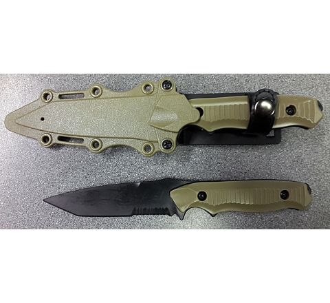 Rubber Knife - Type 2 in Tan