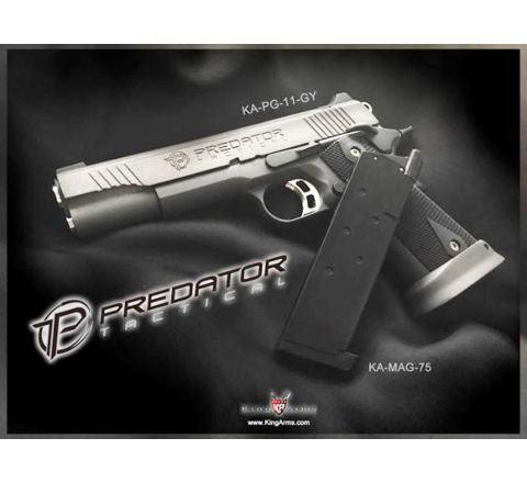 King Arms 1911 20rnd Predator Shrike magazine - Black - TM compatible