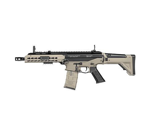 ICS CXP APE EBB (Electric Blow-Back) CQB Short Airsoft Rifle - Black and Tan