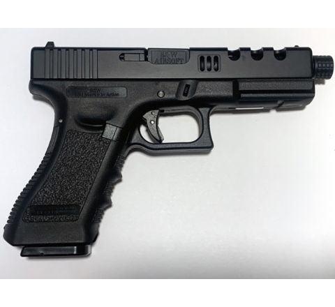 NEW! POSEIDON B&W H17 BB [Black Black] / 17 Custom CNC metal RMR slide GBB Airsoft pistol