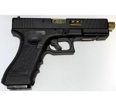 NEW! POSEIDON B&W W17 BG [Black Gold] / 17 Custom CNC metal RMR slide GBB Airsoft pistol