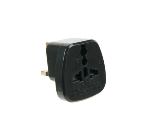UK to EU mains plug adaptor