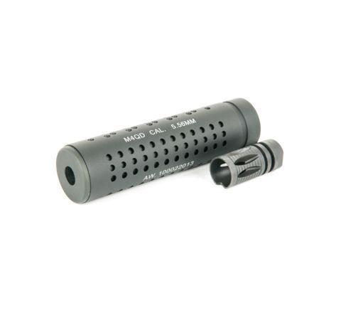 iSoft M4 QD KAC Silencer / Suppressor with steel Flash hider 14mm CCW