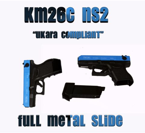 Two-Tone KWA KM26C (Glk 26C) pistol with metal slide.