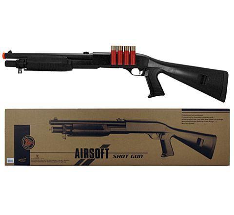 AGM M56 Style Full Stock Airsoft Shotgun (M183-A2)