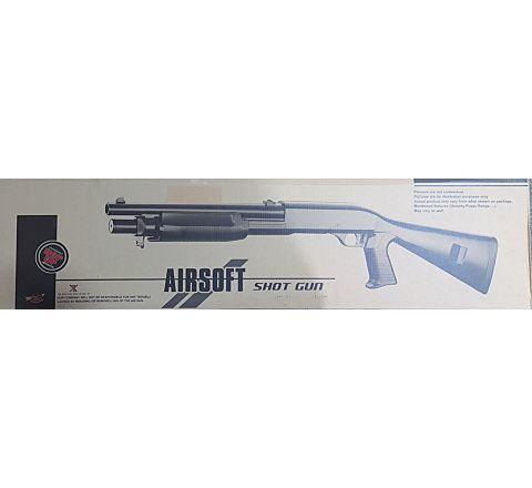 AGM M56 STYLE FULL STOCK AIRSOFT SHOTGUN (M183-A2) - Zombie Two-Tone - Boneyard Snapped!