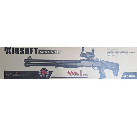 AGM M56 STYLE FULL STOCK AIRSOFT SHOTGUN (M186-A2) - BONEYARD
