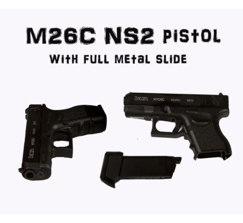 KWA KM26C (Glk 26C) Airsoft Pistol With Metal Slide.