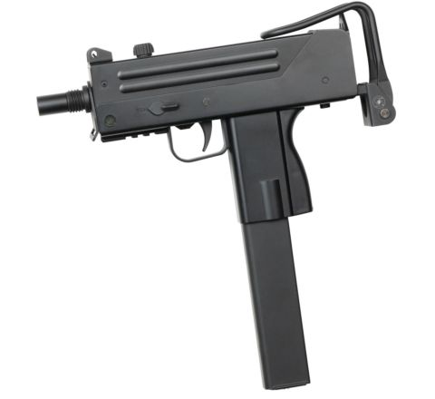 ASG Branded JG Ingram Mac 10 AEG Airsoft SMG with Fake Suppressor