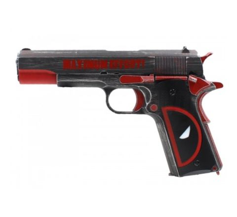 Armorer Works Custom NE2201 Molon Labe 1911 Airsoft Pistol - Deadpool