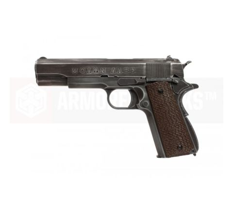 Armorer Works Custom NE2002 Molon Labe 1911 Airsoft Pistol - Brown Grips