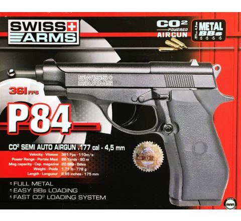Swiss Arms P84 .177 / 4.5mm CO2 Air Pistol - SP288707