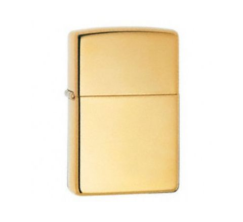 Genuine Zippo Lighter - Polished Brass