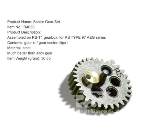 Real Sword Sector Gear for Type 97 T1 Gearboxes