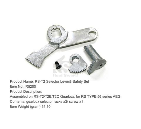 Real Sword Selector Lever & Safety Set For Type 56 T2 / T2B / T3B Gearboxes