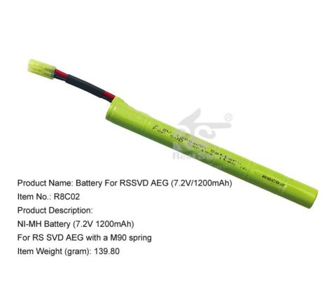 Real Sword 7.2v 1200mAh NiMh battery for SVD