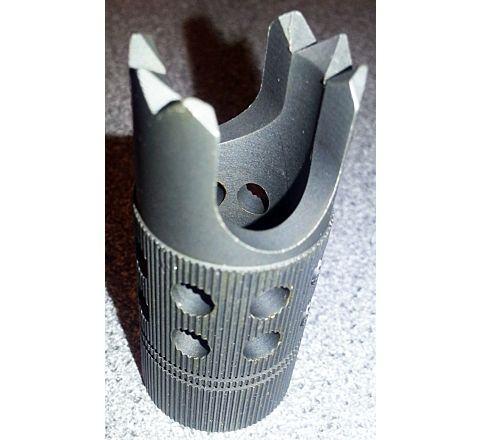 Rebar Cutter style steel flash hider 14mm CCW
