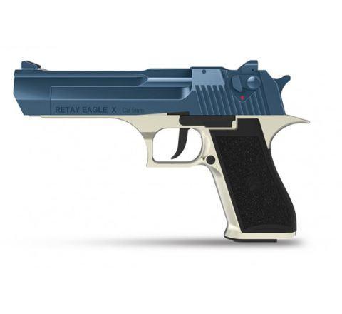 Retay Blank Firing 9mm Eagle X (Desert Eagle) Satin/Blue